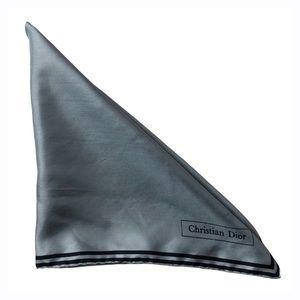 Christian Dior Vintage Blue Square Silk Scarf
